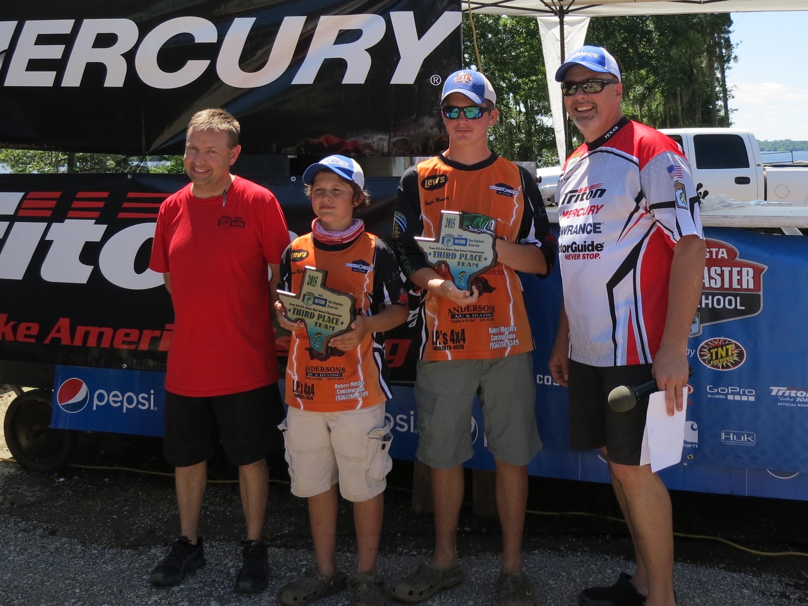 3rd Place Team, Hunter Muncrief & Landen McCary