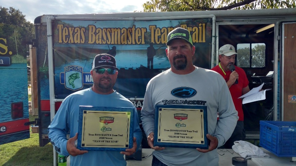"2016 Texas BASSMASTER Team Trail ""Team of the Year"" – Russell Pasket and David Akin"